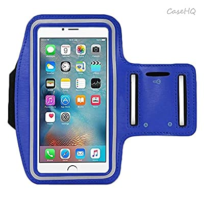 Universal Sports Armband for Apple iPhone 7/7 Plus iPhone 6/6s Plus Samsung Galaxy S7/S6/S5 Sweatproof Running ArmBelt With Small Holder & Pouch for Keys Card 4.5 inch- 5.7 inch Screen