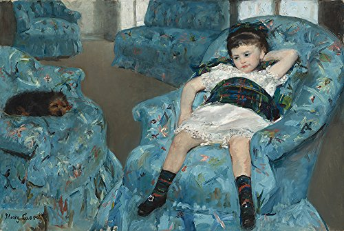 Spiffing Prints Mary Cassatt - Little Girl in a Blue Armchair -...