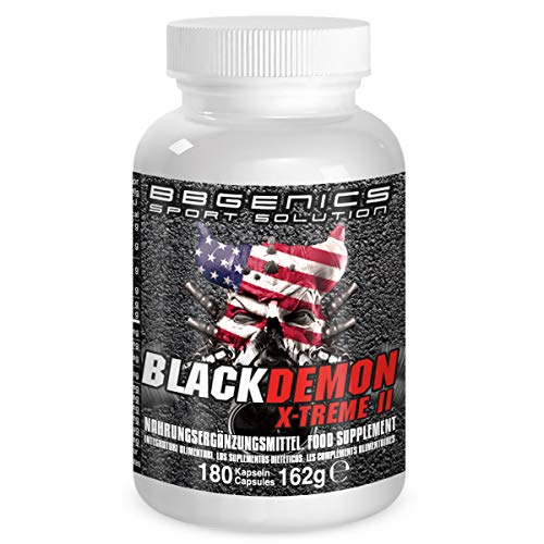 BBGenics, BlackDemon X-Treme II, T-Booster, qualità Maca, Arginina, Tribulus, Zinco, Ferro, Cromo, Vitamina B2, B6, C, 180 capsule