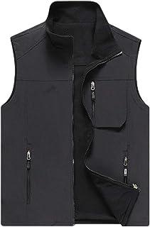 LvRao Men's Fleece Vest Warm Soft Lightweight Full Zip Sleeveless Jacket Body Warmer Reversible Outdoor Jackets Gilet