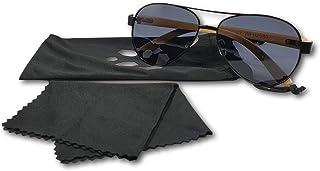 Adlerauge - Gafas de sol de bambú con funda para gafas y paño de microfibra | UV 400 | alta calidad | lentes negras | unisex, protección UV, madera