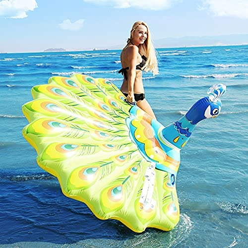 LZZB Große aufblasbare schwimmende Reihe zur Erhöhung der Verdickung Strandpfau Schwimmbett Schwimmring faltbares schwimmendes Luftkissen für Erwachsene, riesige Schwimmbadhängematte
