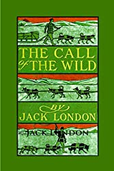 book cover for The Call of the Wild by Jack London, wolf in snow ; books set in Canada