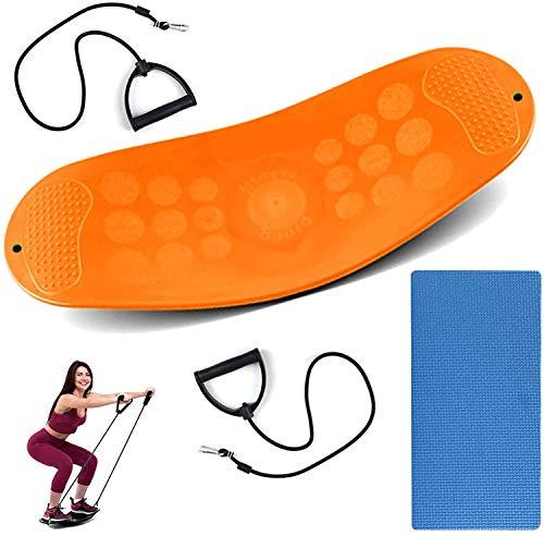 Wobble Balance Board, Board De Stabilité pour La Thérapie Physique, Home Gyms Fitness Board Simple Core Equiing Effectant De Yoga Full Body Gym Exercice Easy Fit Banket Équipement De Formation,Orange
