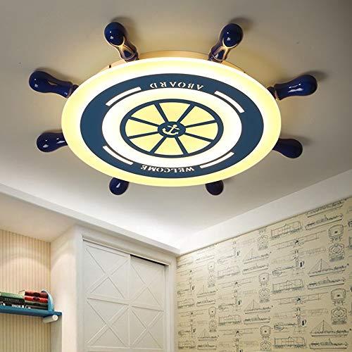 5151BuyWorld Lamp Ruddersign LED-lamp, acryl, strak, beschermt de blik voor kinderen, plafondlamp
