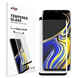 Zizo Full Curved Glass Compatible with Samsung Galaxy Note 9 Tempered Glass Screen Protector Anti Scratch 0.3mm 9H Hardness - Black
