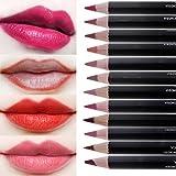 CCbeauty 12pcs Women's Professional Makeup Lip liner Pencil Set with Cover Waterproof Long Lasting Lip Pencil Colors Matte Set