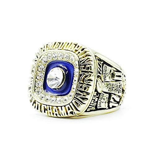 Fei Fei Anillo de Campeonato 1972 Anillo de Campeonato de Miami Dolphin Champion Ring Replica Creative Ring para Mujeres y Hombres,Without Box,10