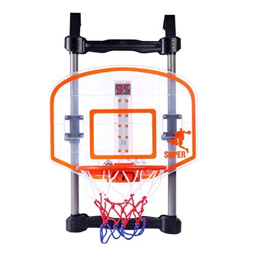 Leic Hängende Basketballkörbe Set Indoor- und Outdoor-Sportbasketballständer Ausrüstung mit Ergebnisanzeige für Kinder