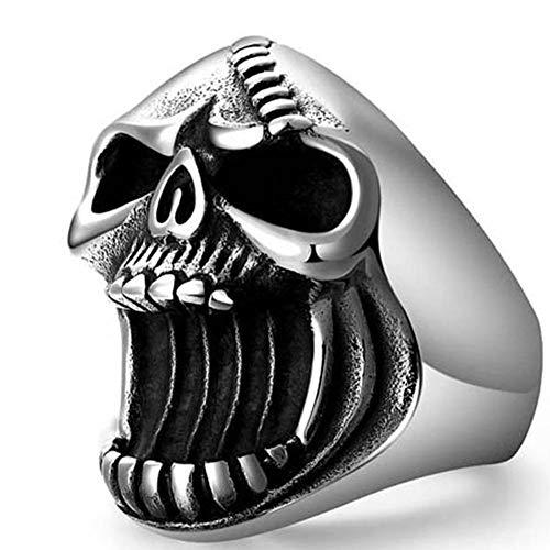 Anillo Punk para hombre, anillo de cabeza de calavera Vintage, anillo de dedo gótico, anillo de nudillo apilable, abridor de botellas de fiesta, regalo de joyería