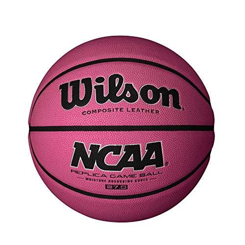 Wilson NCAA Replica Game Basketball- Pink, Size 5