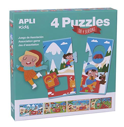 APLI Kids 17895-4 puzles asociación Las 4 estaciones