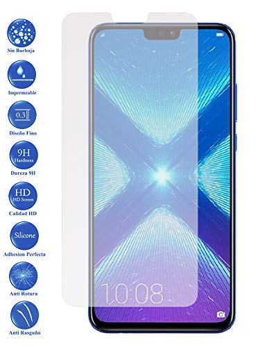 Todotumovil Protector de Pantalla Huawei Honor 8X de Cristal Templado Vidrio 9H para movil