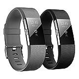 Hanlesi Fitbit Charge 2 Cinturino Morbido Sportivo di Ricambio in TPE, Accessori per Orologio alla Moda per Fitbit Charge 2