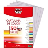 Fixo Paper 11110372 – Paquete de cartulinas A4– 50 unidades color gris perla, 180g