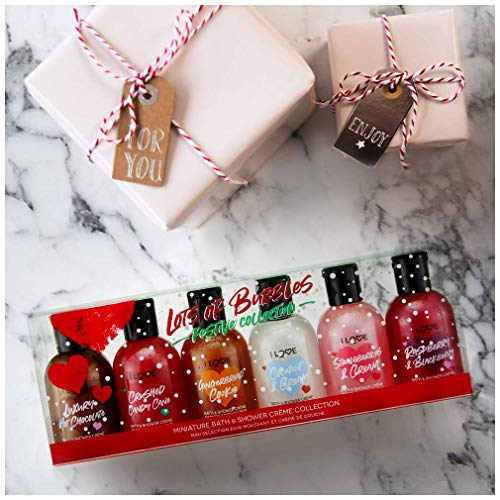 I Love… Lots Of Bubbles Bath & Shower Crème Festive Collection Gift Set - 6 x 100ml Gels