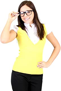 The Big Bang Theory Penny Yellow Vest Blouse Costume Shirt