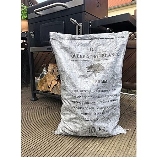Darlux 10 kg Quebracho-Blanco Premium Holzkohle Grillkohle 30-150 mm ** Hauslieferant von Steffen Zuber Estancia Beef Club ** Steakhaus Qualität ** 1,90 €/ 1 Kg