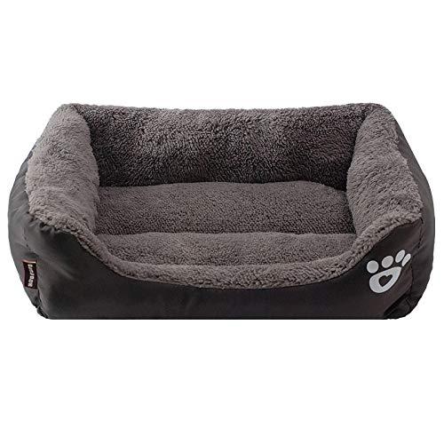 Cama Perro S-3Xl 9 Colores Paw Pet Sofá Camas para Perros Fondo Impermeable Fleece Suave Cálido Cama para Gatos Casa XL Negro