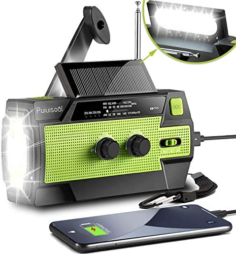 2021 Newest Emergency Hand Crank Radio 4000mAh Portable Weather Solar Radios with Motion Sensor product image