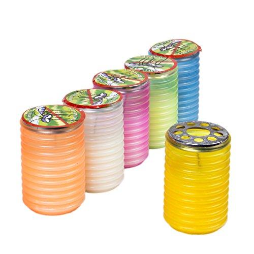 6 Stück LAMPION 110 x 70 mm Citronell Farbenmix stehen und hängend