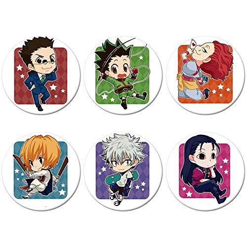 UCAI 6 Stück Hunter X Jäger-Abzeichen, japanischer Anime-Button, Cartoon, rund, Anhänger, Dekoration, Zubehör, Kleidung, Rucksack.