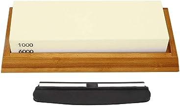 Fdit Knivslipsten, premium 1000/6000 korn dubbelsidig knivslipsten vit korund exakt korn kök slipsten