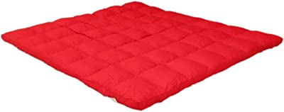 AVI 2500 GSM Large Queen Size Bed Finest Imported Super Microfiber Mattress Padding/Topper-Cherry Red 60 Inch x 84 Inch