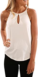 Women Blouse, Sleeveless Vest Gallus Solid Casual Shirt Tank Crop Top