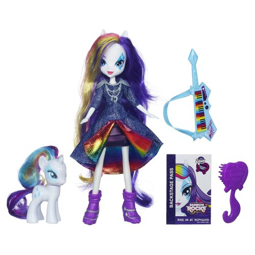 My Little Pony Equestria Girls Puppe und Pony Set - Rarity [UK Import]