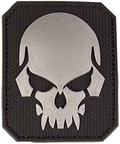 Patch 3D Skull PVC avec large velcro