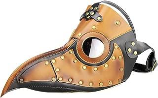 SHOLIND Plague Doctor Bird Mask Medieval Steampunk Mask Halloween Masquerade Costume