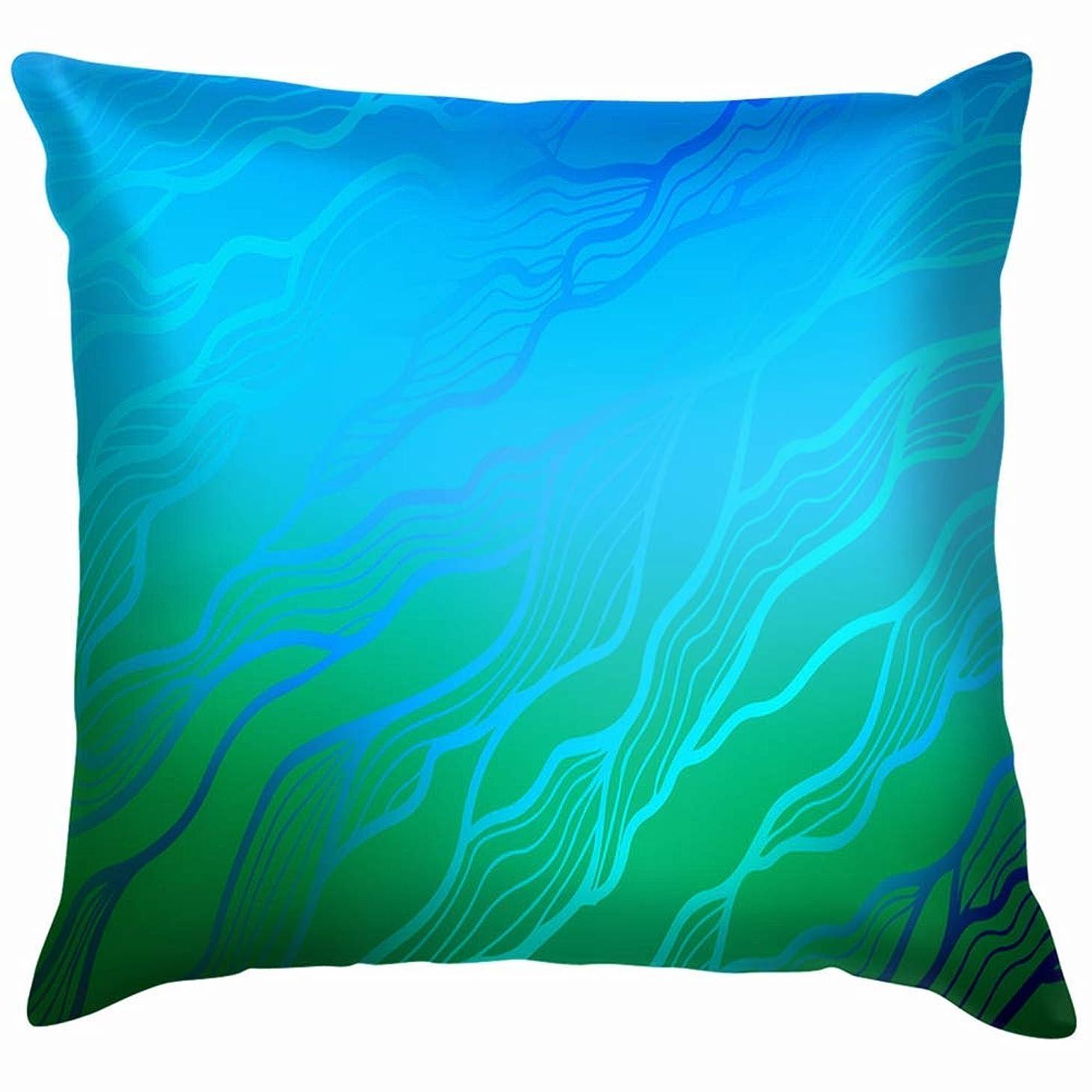 グロー報いる結果としてライトブルーグリーンナチュラルスロー枕カバーホームソファクッションカバー枕カバーギフト45x45 cm