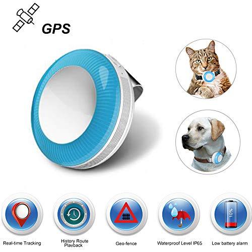 Mini GPS Locator, GPS Tracker voor huisdieren Katten Honden/Real Time Tracking/Geo-Hek/Geschiedenis Route / IP65 Waterdicht / 2-weg Call/Monitor Functie TK925