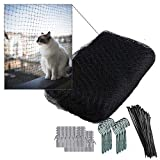 NEEZ XL - Red de protección para Gatos para balcón y Ventana, Incluye Set de fijación, fijación...