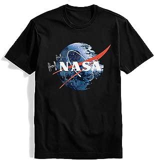 NASA Shirt Astronaut Space ShuttleTshirts -Pastel Rainbow Cotton Vintage Short Sleeve Graphic T-Shirt Tee