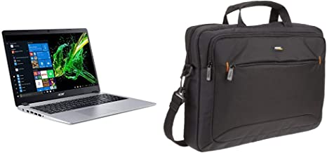Acer Aspire 5 Slim Laptop, 15.6%22 Full HD IPS Display, AMD Ryzen 3 3200U, 4GB, 128GB SSD, Backlit Keyboard, Windows 10 & AmazonBasics 15.6-Inch Laptop Computer and Tablet Shoulder Bag Carrying Case