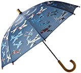 Hatley Boy's Printed Umbrella, Blue (Dino Shadows), One Size