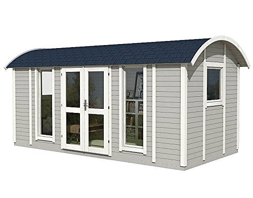 Allwood Mayflower Base   117 SQF Garden House, Cabin Kit 1 Unique style. Focal point of any garden. Total floor area 117 SQF Structures on wheels are except from permits in most states