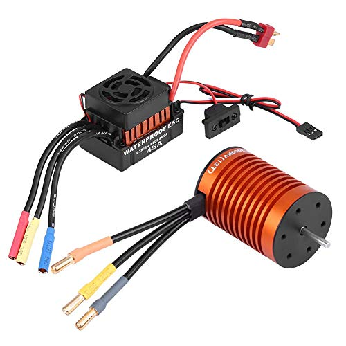 VGEBY Motor ESC Combo, F540 3000KV RC Brushless Motor Waterproof 45A ESC Kit RC Car Accessory