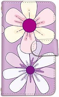 seventwo Android One X2 スマホケース 手帳型 携帯ケース カードホルダー アンドロイド ワン エックスツー 【E.パープル】 花びら 花柄 flower_137