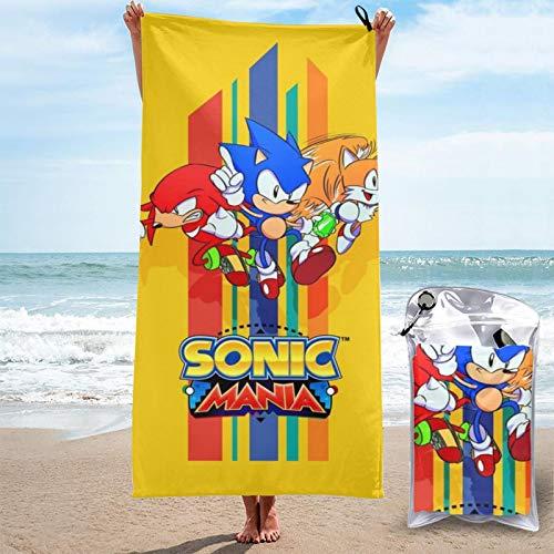 se-ga game Son-ics Ma-nia Drop Dash Tornado Collector's Edition 2 in 1 plus lustiges Tails Strandtuch Reisehandtuch Ostern groß encozy Unisex Sandy Beach 2021.0 für Erwachsene Mädchen & Jungen