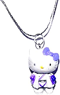 Personnaliser Hello Kitty charme et cristal en acier inoxydable Collier
