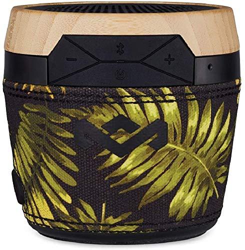 House of Marley Chant Mini, tragbare Bluetooth Lautsprecherbox, spritzwassergeschützt, 6 Std. Akkulaufzeit, integriertes Mikrofon, Karabinerhaken, kabellos verbinden mit iPhone, Samsung etc, palm