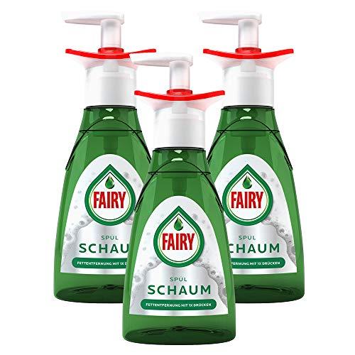 Fairy Handspülmittel Geschirrspülmittel Spülschaum Pumpflasche Starter 350ml Nachfüllbar (3er Pack)