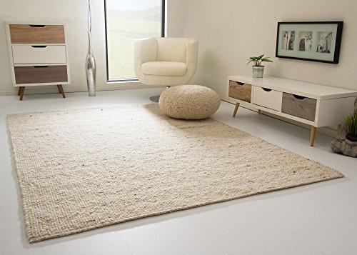 Birgsau Handweb Teppich - aus nachhaltiger, deutscher Produktion - natur, Größe: 70x140 cm