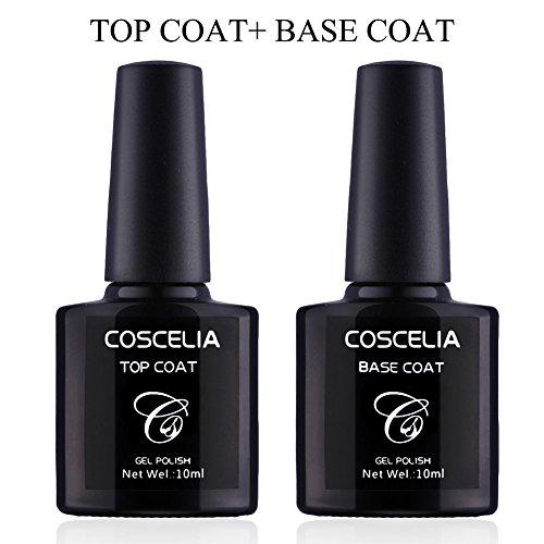 Coscelia Top Coat Base Coat Set Nagel Kunst Primer Überlack+ Unterlack(Ohne schwitzschicht...