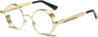 LUOMON Sunglasses Steampunk with 48mm Round Lens Fashion Glasses LM0914