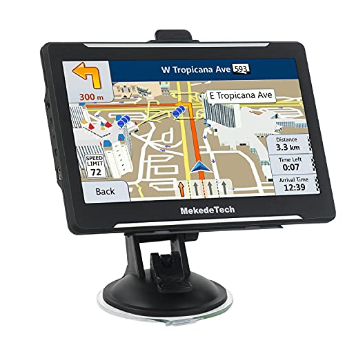 Sat NAV for Car Truck,7 inch Capacitive Screen System with UK and EU 2020 Maps with Lifetime Free Updates Satellite Navigation, 8G 256M Voice Broadcast and Speed Camera Warning, Driving Alert
