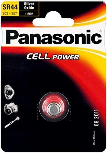 Knopfzelle SR44 (SR-44L 1BP) Silberoxid-Zink Batterie 1,55V (wt48872)